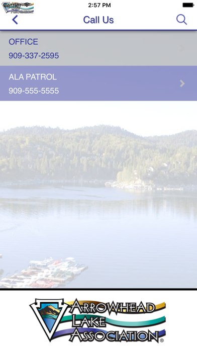 Screen Shot Arrowhead Lake Association 2