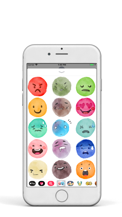 Watercolor EMoji Pack screenshot two