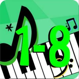 Piano Scale Shuffle ABRSM 1-8