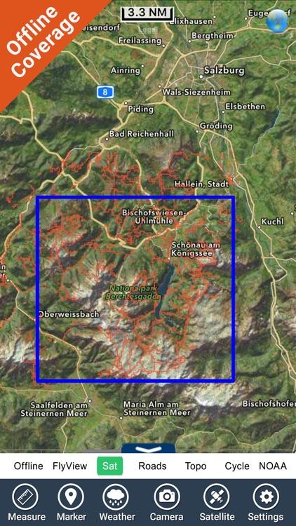 Berchtesgaden National Park - GPS Map Navigator screenshot-4