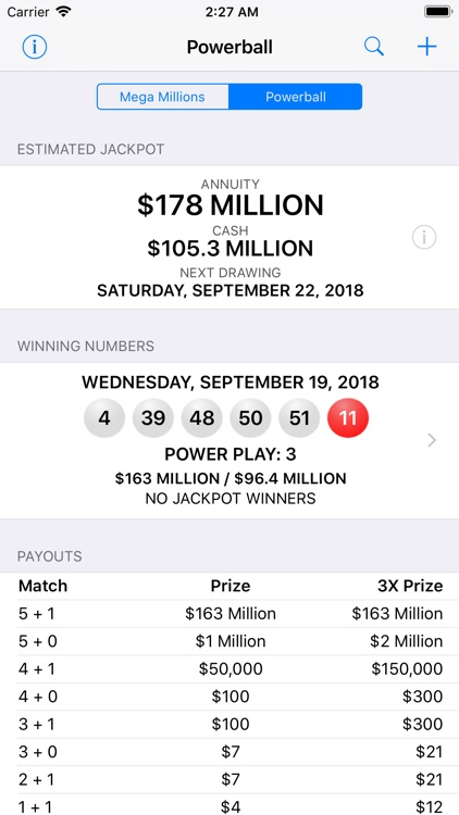 Mega Millions + Powerball screenshot-1