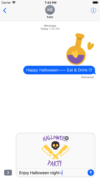 Lovely Halloween Stickers screenshot 4