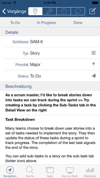 Mobility for Jira - TeamScreenshot von 2