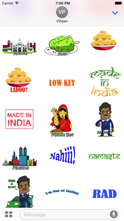 Desi Stickers for iMessage screenshot-2