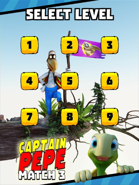 Captain Pepe Match 3 для iPad