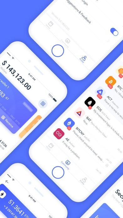 Screenshot of Secrypto - Bitcoin, ETH, EOS App