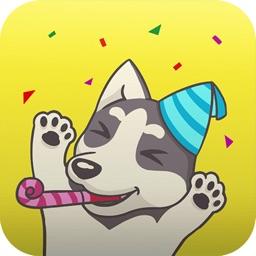 Husky Emoji Animated Sticker