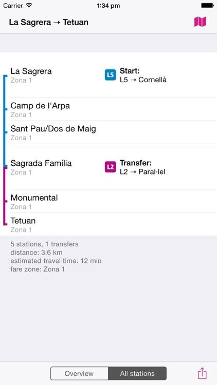 Barcelona Rail Map screenshot-3