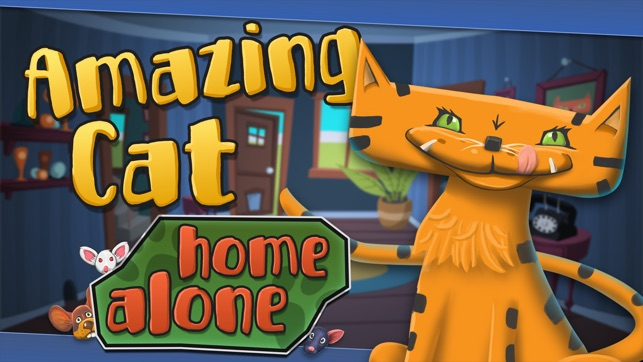 Amazing Cat Home Alone