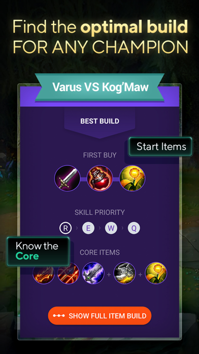 LOLSUMO Champion Items Builds Screenshot