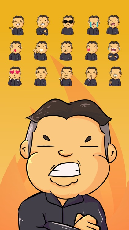 the Angry Dictator Stickers