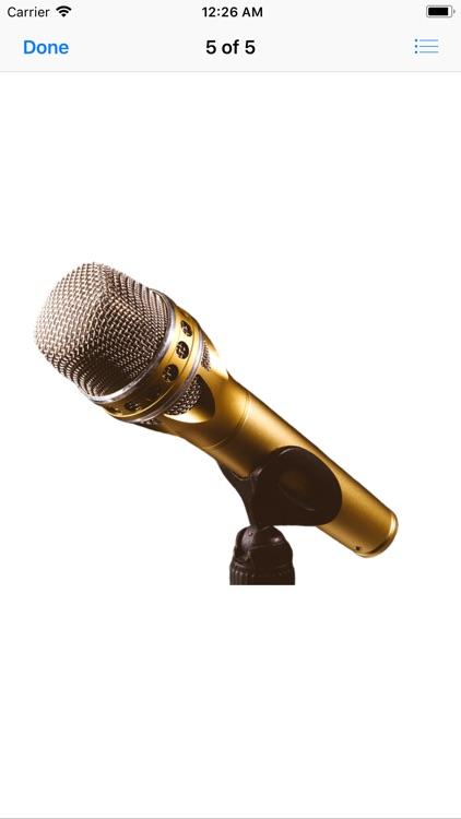 Microphone Stickers screenshot-4