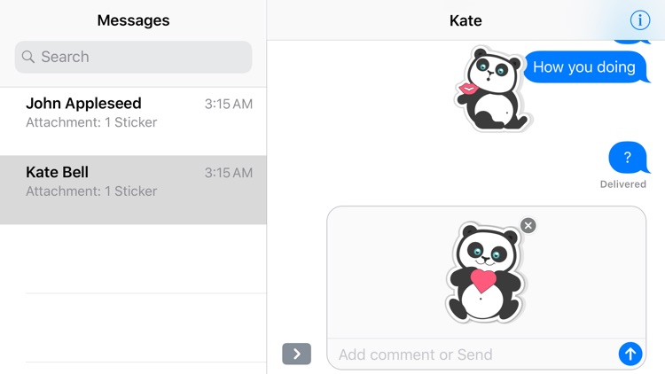 Adorable Panda Emojis Stickers screenshot-3