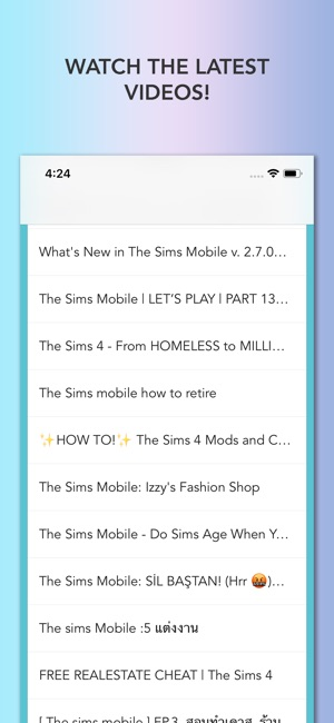 mods for sims mobile