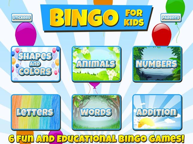 bingo for kids on the app store