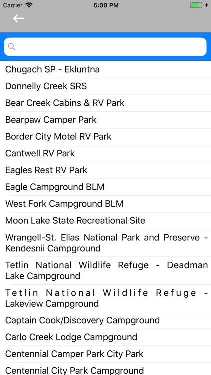 Western Region Camps & RV's