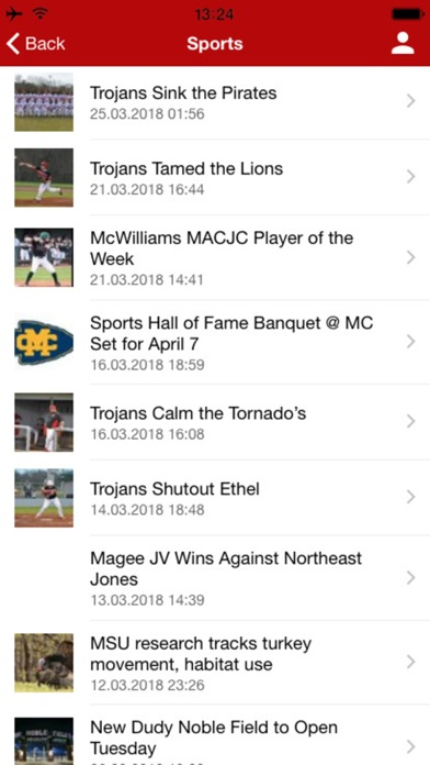 MageeNews.com Screenshot on iOS