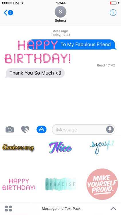 Message and Text Pack