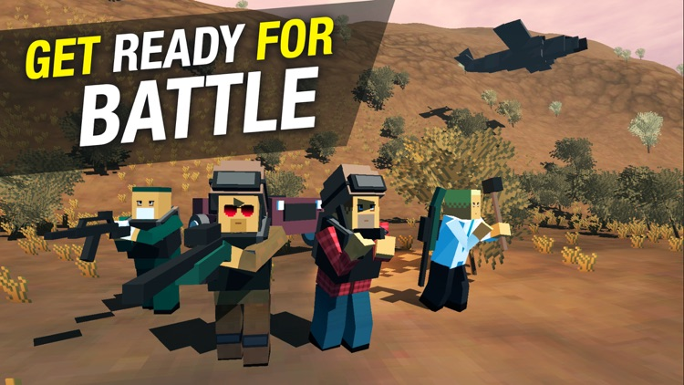Pixel Battle Royale Ground Gun