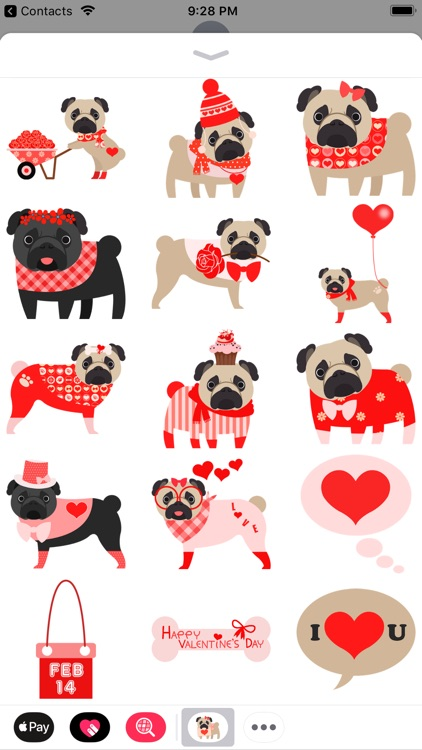 Pug Love Stickers screenshot-3