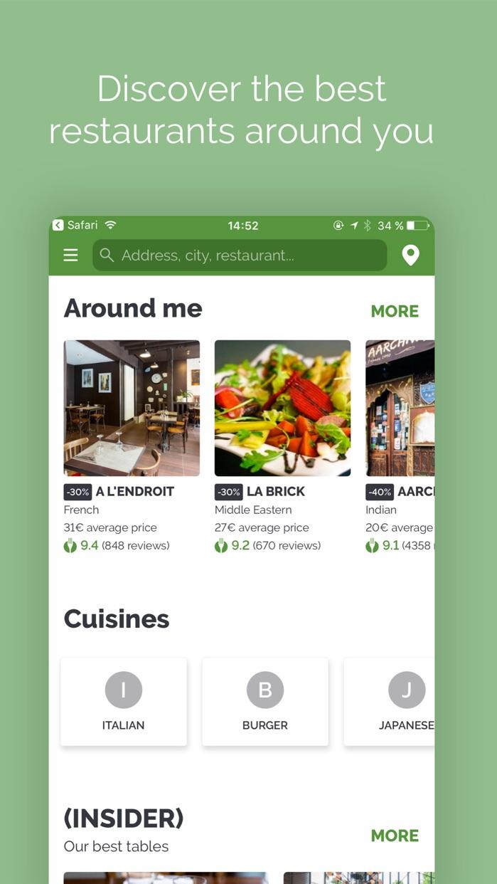 TheFork - Restaurants bookings Screenshot
