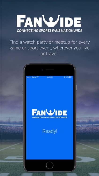 FanWide - Sports Fan Events screenshot-0