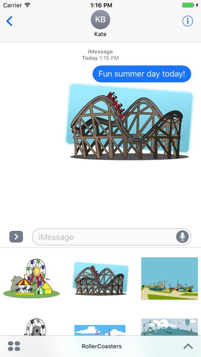 Roller Coaster Theme Park Stickers screenshot one