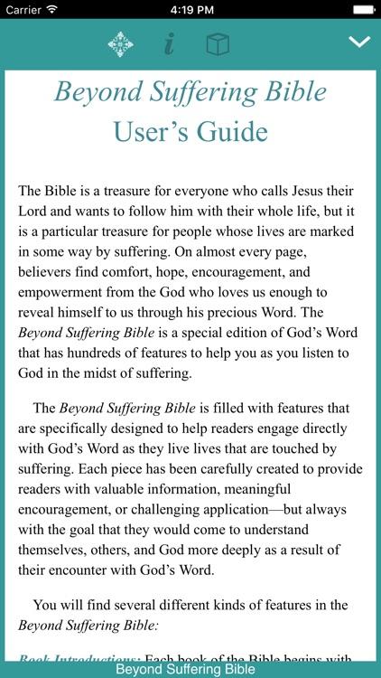 Beyond Suffering Bible screenshot-0