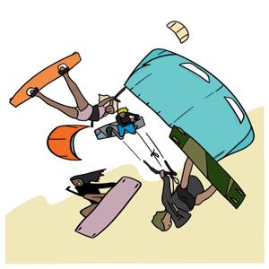 Kite Cartoon - Stickers app