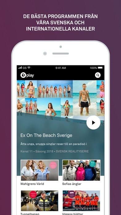 Screenshot for Dplay in Sweden App Store