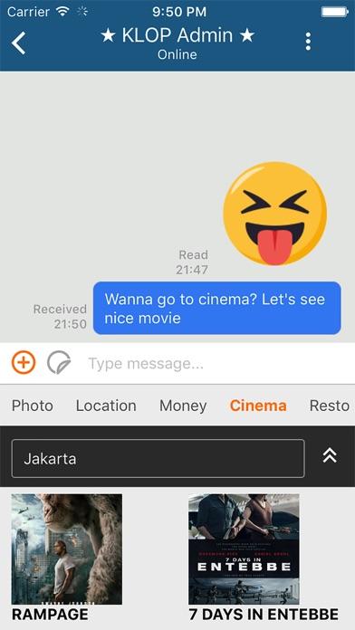 Screenshot of KLOP App