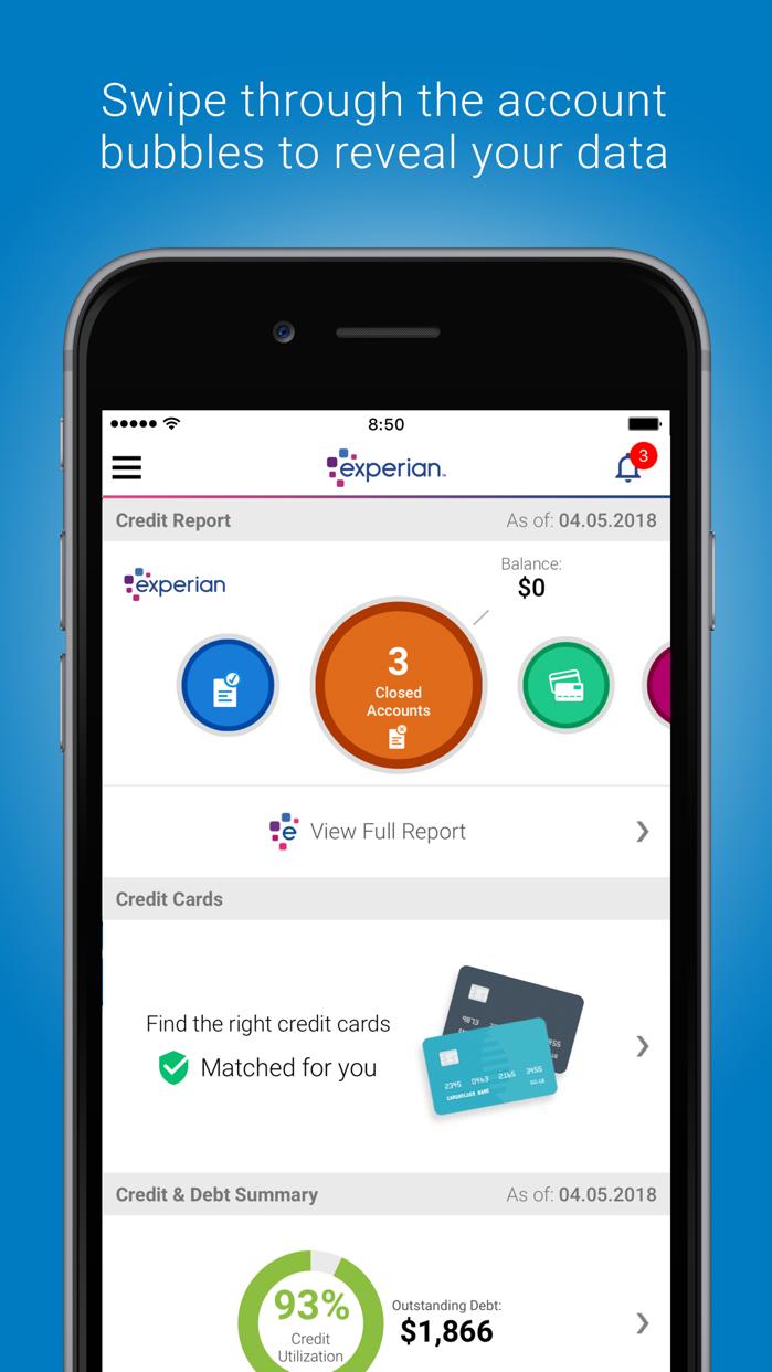Experian - Credit Report Screenshot