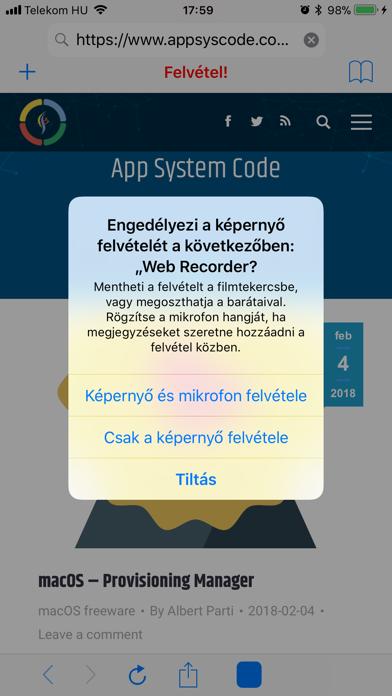 Web Page Recorder screenshot three