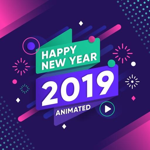 2019 Happy New Year Animated