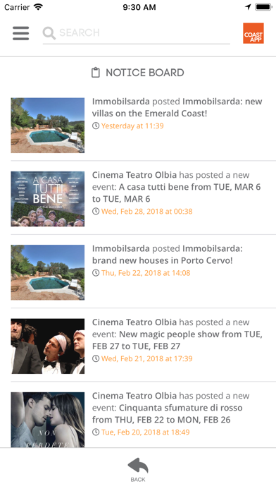 CoastApp screenshot two