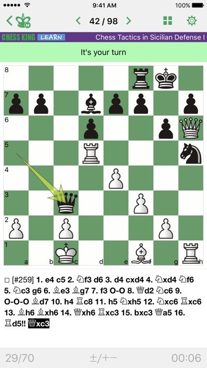 Chess Tactics. Sicilian Def. 1