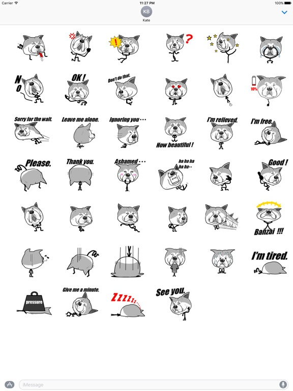 Funny Stick Dog Emoji Sticker screenshot 4