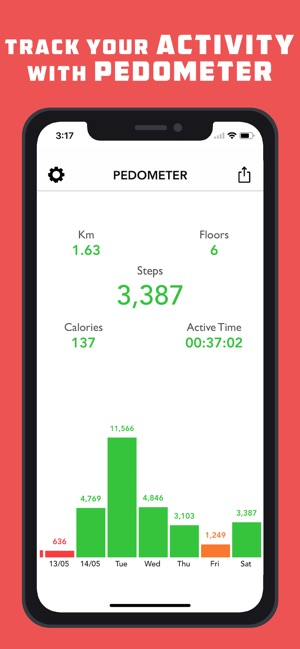 Pedometer Lite for Weight Loss Screenshot
