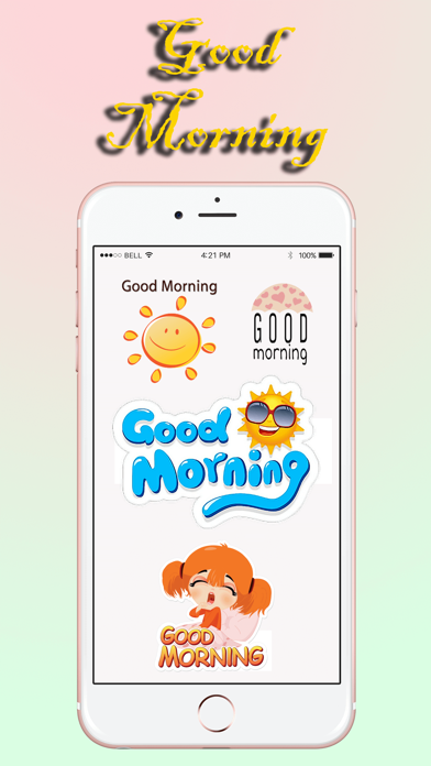 Good Morning Stickers Pack screenshot three