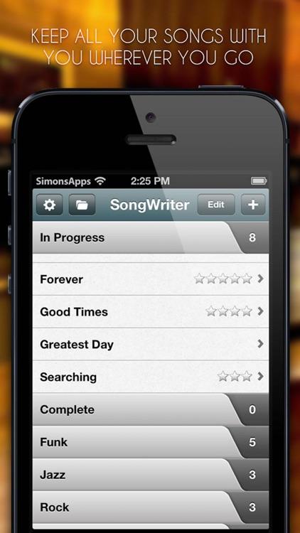 Song-Writer: Write Note Lyrics