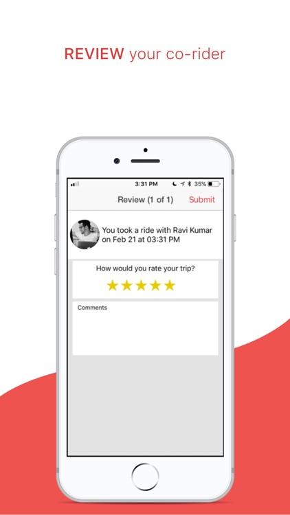sRide - Carpooling App screenshot-4