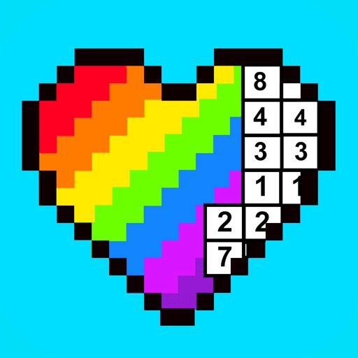 RAINBOW Color by Number app for ipad