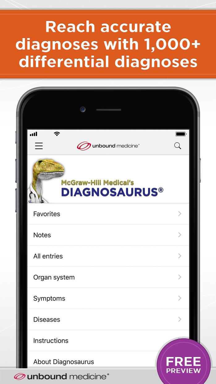 Diagnosaurus® DDx Screenshot