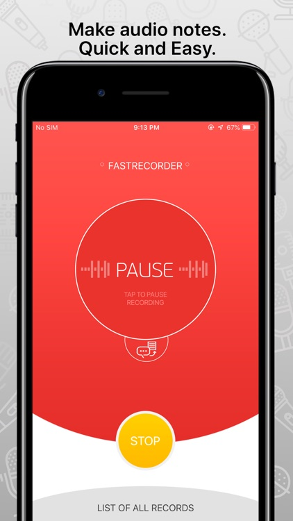 FastRecorder audio recording