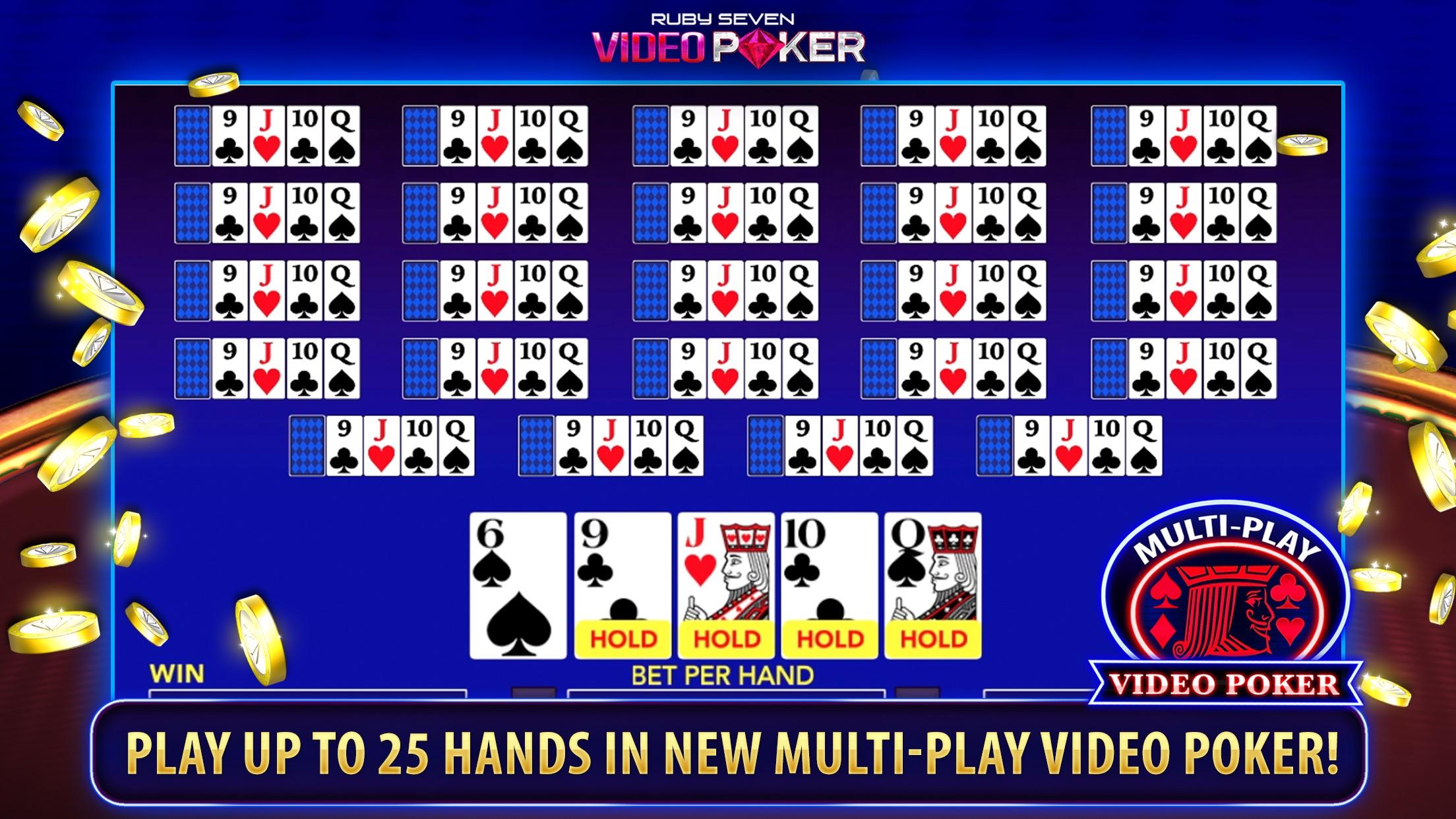 Ruby Seven Video Poker Screenshot