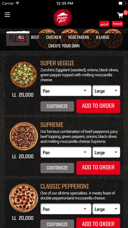 Pizzahut Lebanon screenshot-2