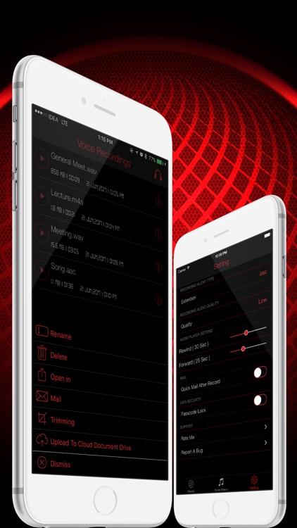 HD Audio Recorder : Voice Memo screenshot-4