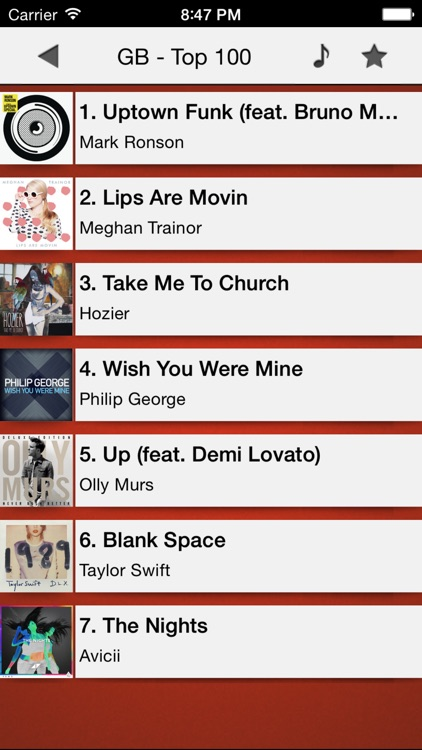 Music top 100's hits screenshot-1
