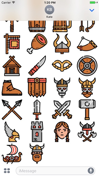 Screenshot for Vikings Stickers Emojis in Kuwait App Store