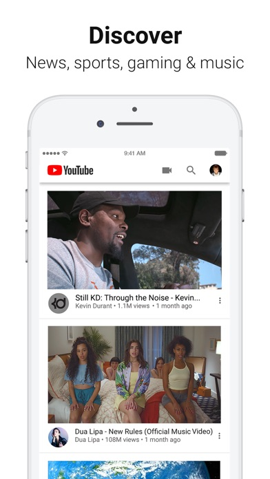 Screenshot of YouTube: Watch, Listen, Stream App